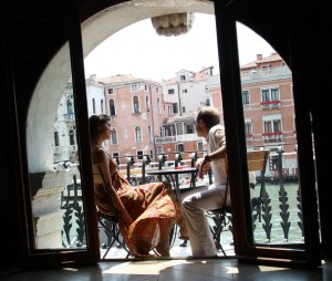 """A balcony in Venice"""