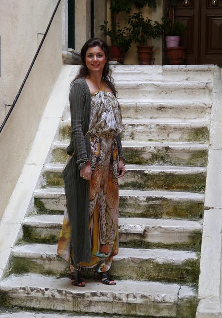 Greek Girl Glasgow in Corfu