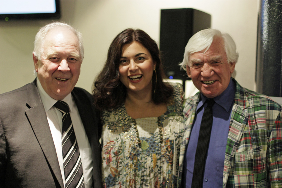 Katerina with Mr Craig Brown and Mr Bill Martin